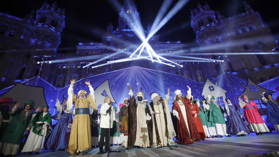 Cabalgata de Reyes Madrid 2018 en CentroCentro Cibeles (Madrid)