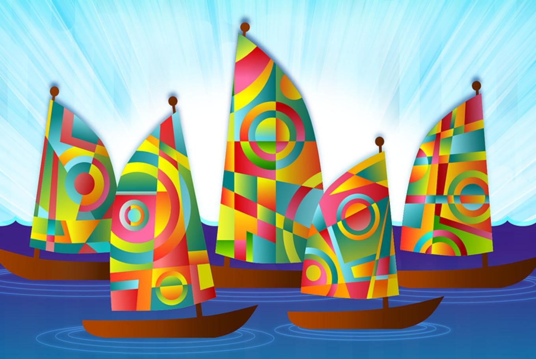 Barcos estampados en Museu Maritim (Barcelona)