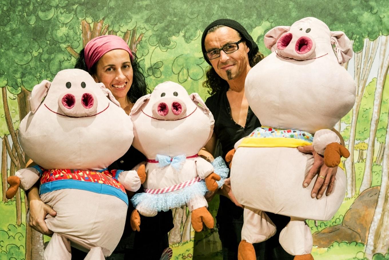 Teatro 'Els 3 porquets es caguen de por' en Jove Teatre Regina (Barcelona)