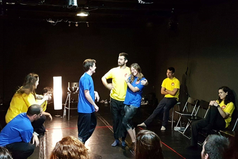 Improvisación con 'Los impartidos' en La Escalera de Jacob Lavapiés (Madrid)