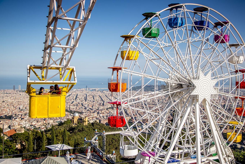 Día de verano en el Parque de Atracciones del Tibidabo en Parque de Atracciones del Tibidabo (Barcelona)