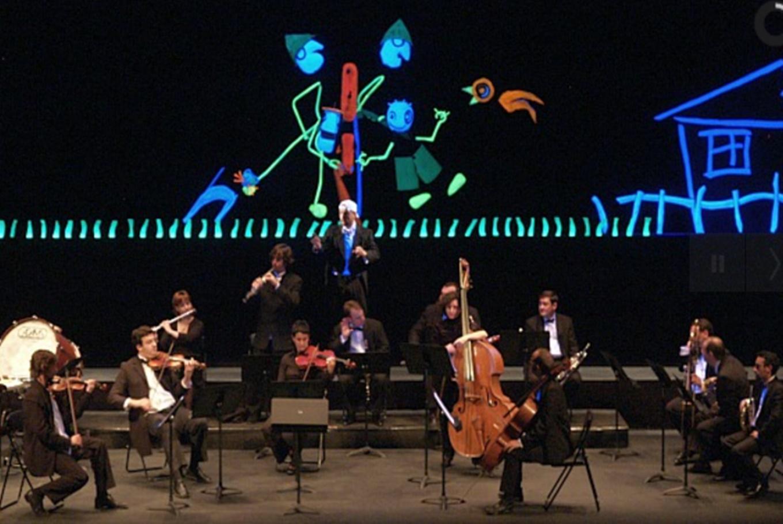 Música de orquesta con 'Pedro eta Otsoa' en Teatro Arriaga (Bilbao)