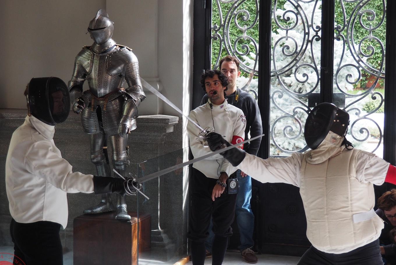 Taller de esgrima en Fundación Lázaro Galdiano (Madrid)